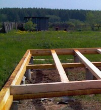устройство лаг для пола деревянного дома