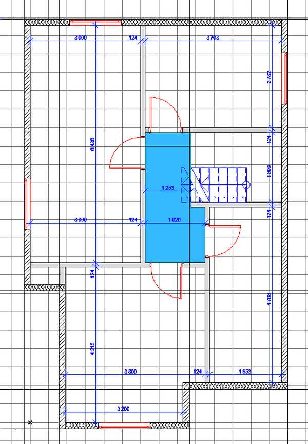 План второго этажа после небольшой коррекции