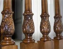 Резные деревянные балясины