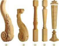 Балясины разной формы