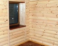 Внутренняя отделка блок-хаусом