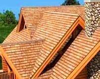 Крыша - деревянная черепица