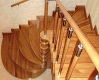 Радиусные и забежные ступени лестницы