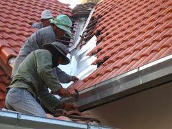 Ремонт разжелобка крыши