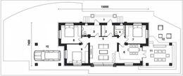 План узкого дома