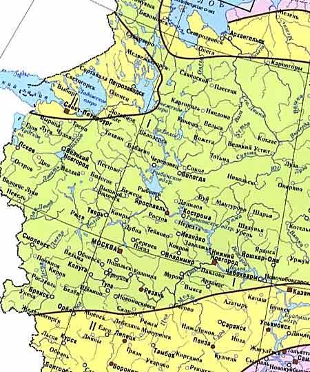 Карта ветровой нагрузки - I район