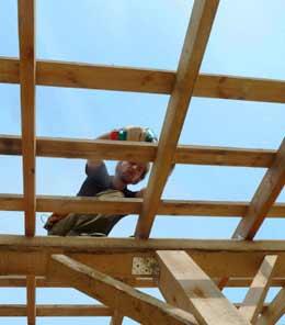 Устройство обрешетки для стропильной крыши