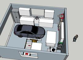 Чертежи гаража на 1 машину