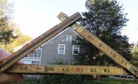 Рассчитать угол наклона крыши