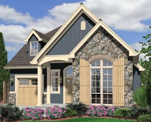 Awesome Home Design Stone Wall Beautiful Cottage Plans