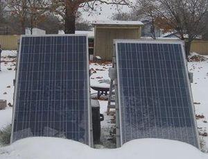 Солнечные модули на штативах