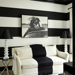 Комбинируем полосы на обоях и обивке мебели