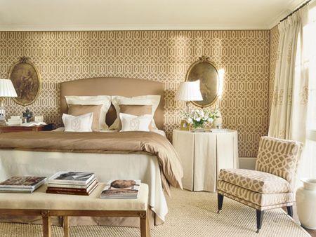 Сочетание обоев и обивки мебели