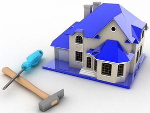 3d illustrations, repair of the house of the concept of